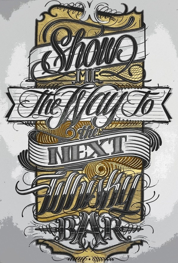 Show me the way… #lettering #design #t-shirt #hand #typography
