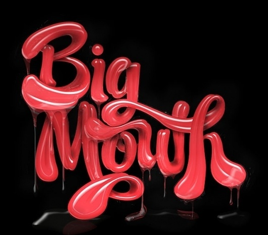 Big Mouth Project - Luke Lucas – Typographer | Graphic Designer | Art Director #luke #big #image #as #type #mouth #lucas