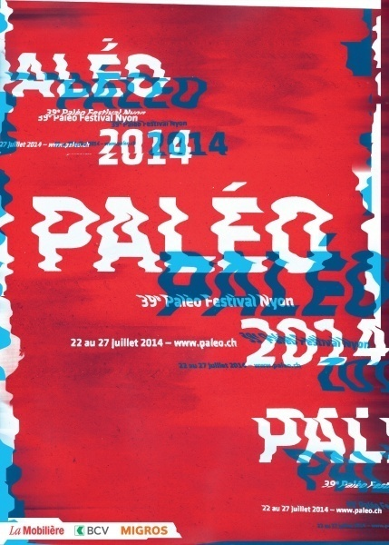 Paléo 2014 - Affiche - Switzerland