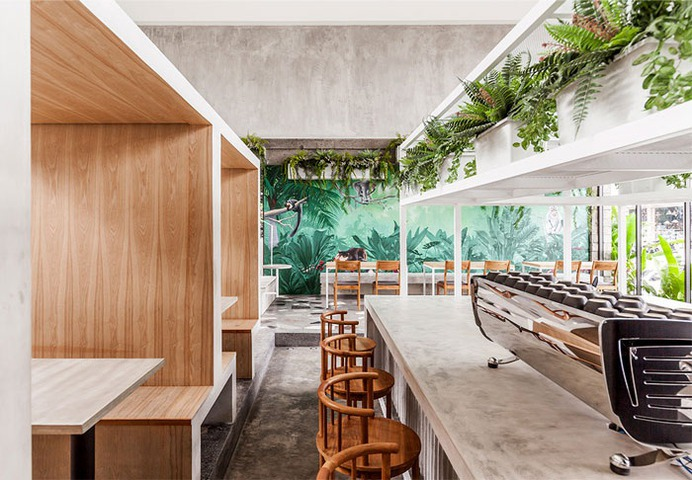 Full Circle Coffee Shop by Expat. Roasters - InteriorZine #restaurant #decor #interior