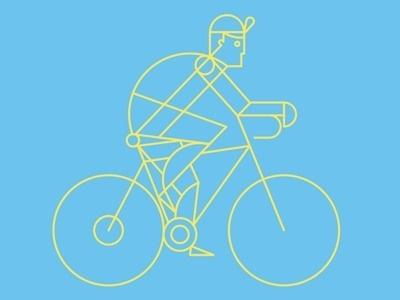 Line biker #illustration