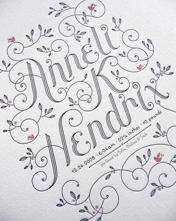 Anneli Hendrix | Jessica Hische #type #drawn #hand #typography
