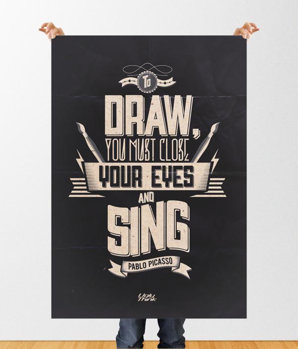Pablo Bicasso's Quotes #typography