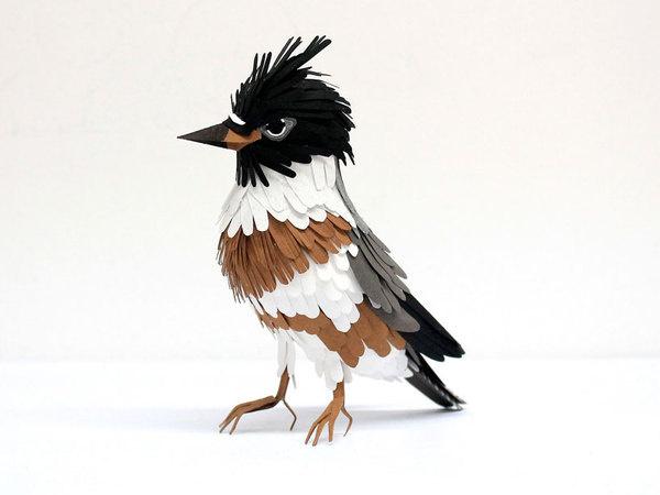 Paper bird sculptures by Diana Beltran Herrera #sculpture #paper #art #bird