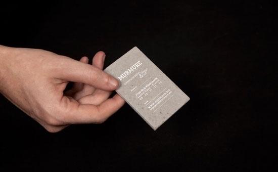 Concrete business cards | Murmure | feel desain