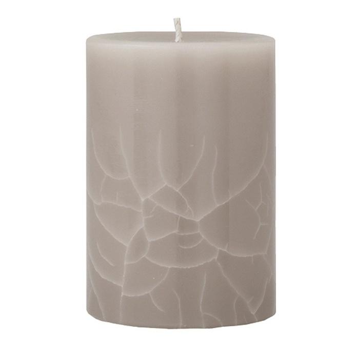 Crackle Pillar Creamy Vanilla & Coconut Scented Candle, 10 x 7 cm