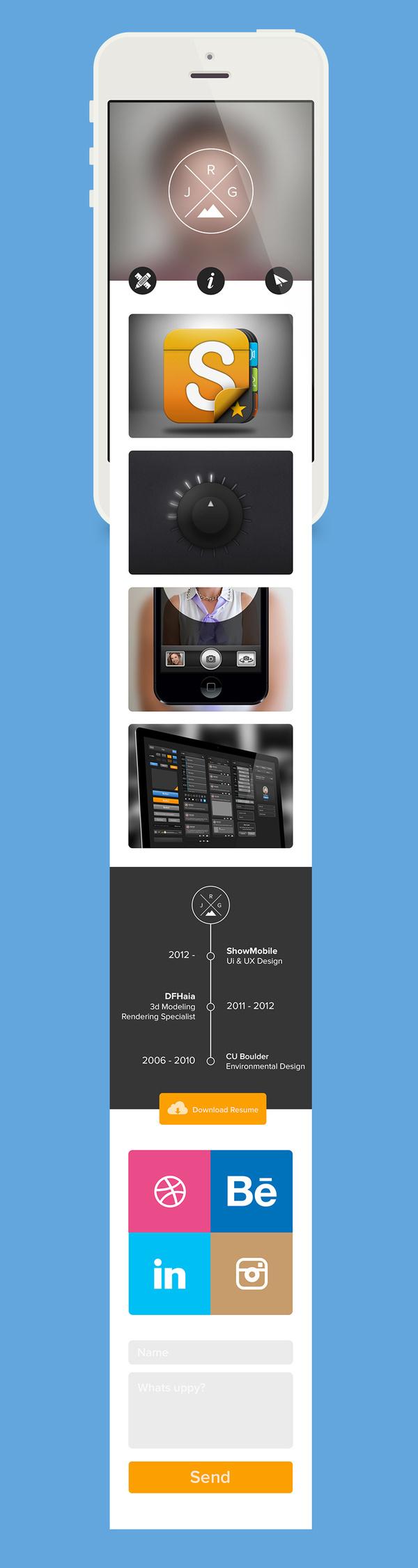 Mobile Website - Justin Graham #ux #ui #mobile #webdesign #web