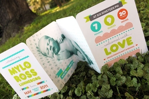 design work life » cataloging inspiration daily #card #announcement #baby