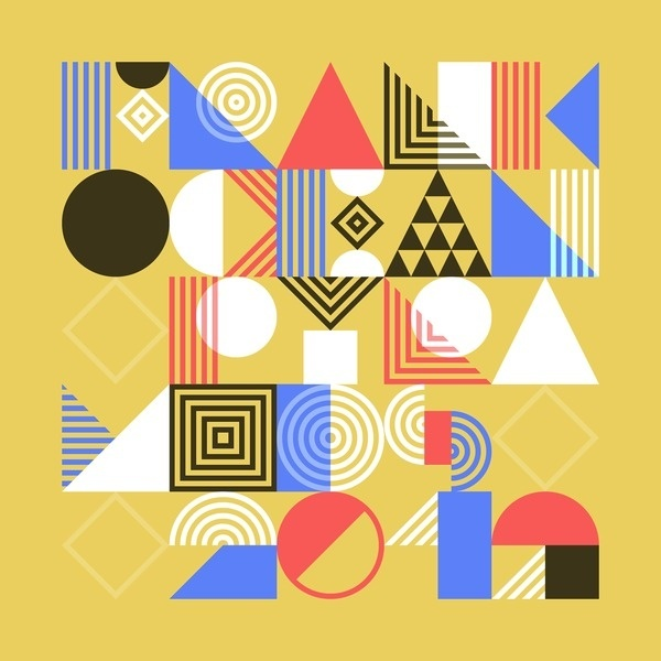 Tamer Koseli | Foragepress.com #elemental #color #shapes #puzzle #type #typography