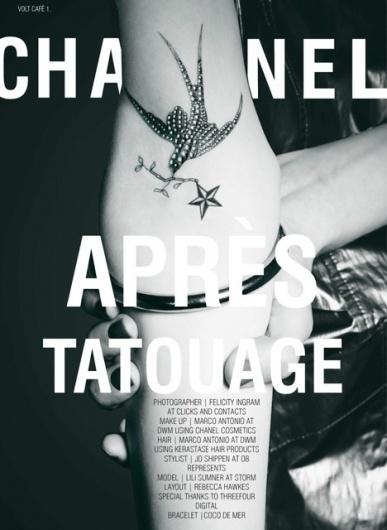 Après Tatouage | Volt Café | by Volt Magazine #tattoo #fashion #layout #editorial #beauty