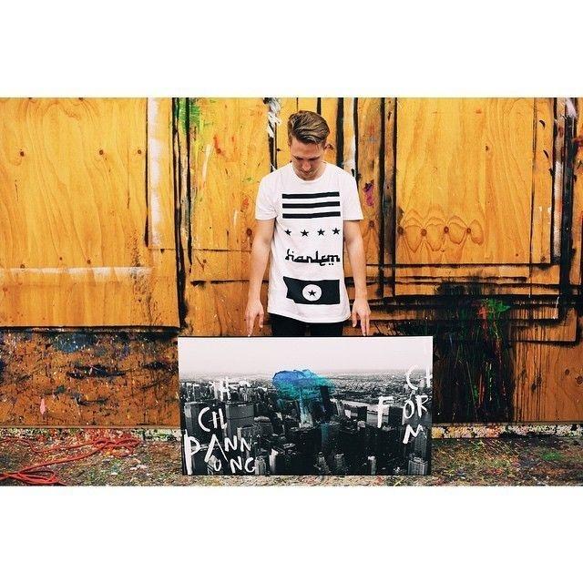 Jake Hart in his studio #urban #paint #industrial #art #street #canvas #artist #colour