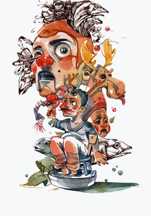 Super Rad Illustrations by Viktor Miller Gausa #illustration
