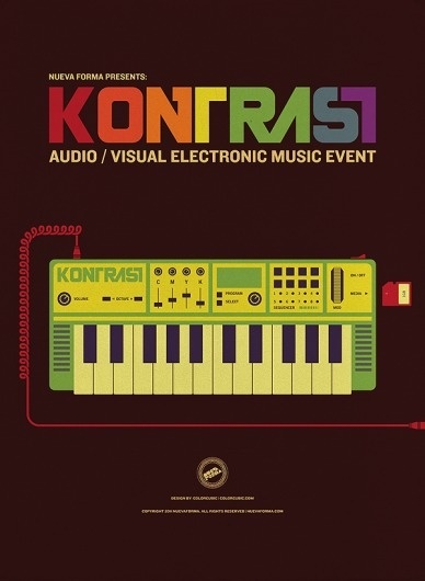 Kontrast - A Nueva Forma Audio/Visual Music Event on the Behance Network #colorcubic #kontrast #print #design #nueva #forma #illustration #poster #music