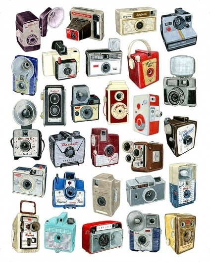 28 old camera drawings by Christine Berrie | Doobybrain.com #illustration