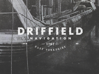 C025 Driffield Canal by Olly Sorsby #driffield #branding #sorsby #olly #typography