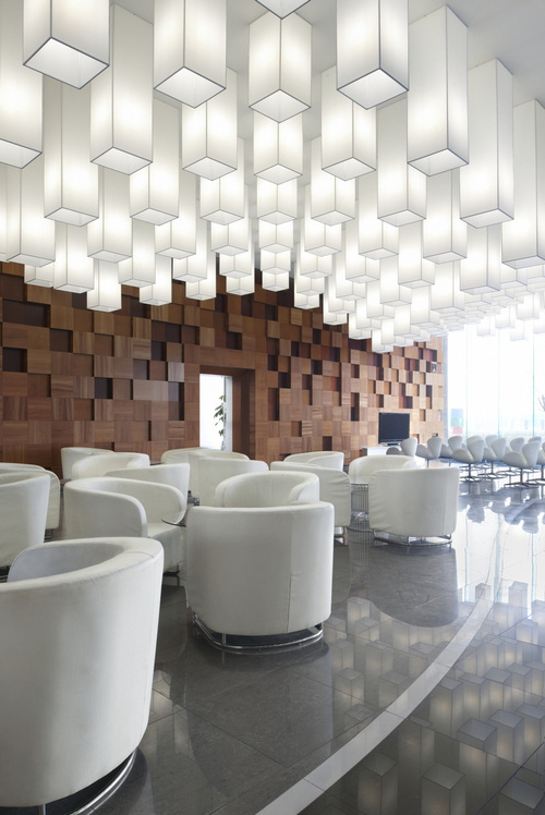 CJWHO ™ (Pixel in Beijing Modelroom / SAKO Architects) #white #sako #design #interiors #china #architecture #beijing #luxury