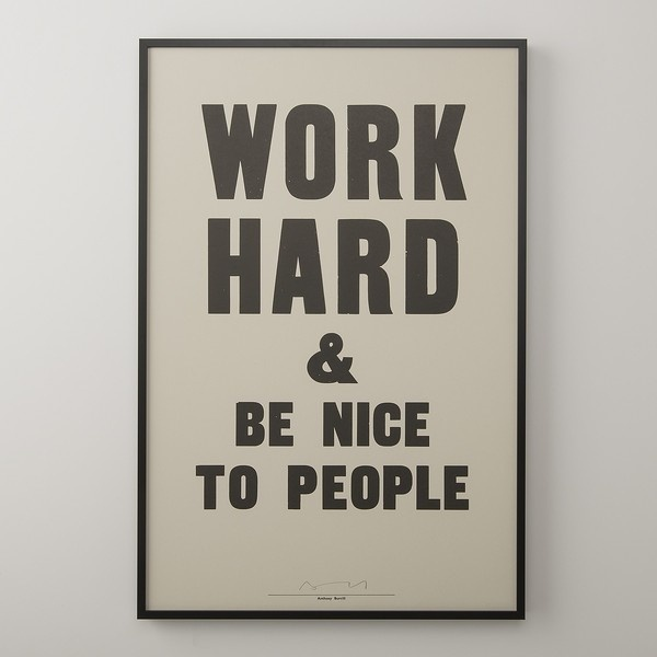 Work Hard & Be Nice To People Print | Art | Accessories #work #nice #typography