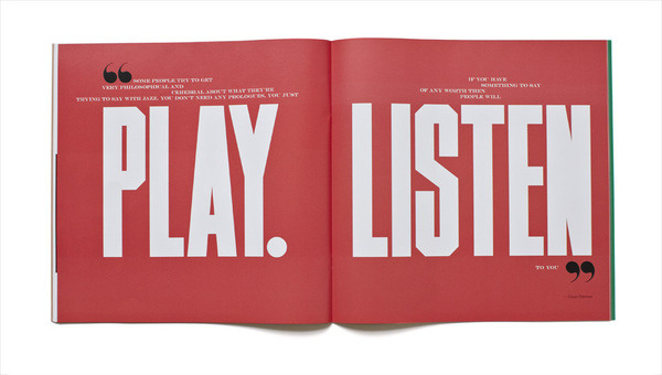 Jazz FM Booklet Matt Willey #layout #editorial #typography