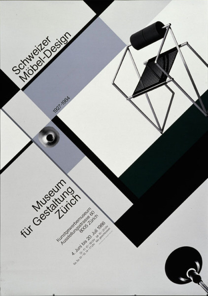 Werner Jeker — Swiss furniture design (1986) #minimal #poster