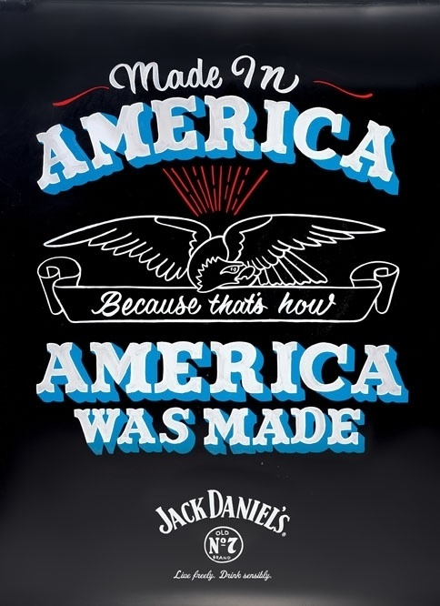 Jack Daniel's Is Back With More Patriotic Posters | Adweek #lettering #america #signage #sign painting #jack daniels