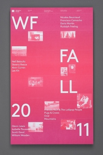 Western Front Fall Calendar : Post Projects / Bench.li #design #graphic #typography