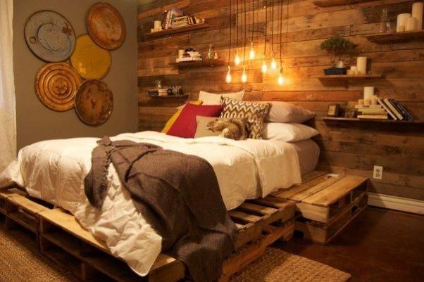 Rustic, wood, bedroom #rustic #bedroom #wood