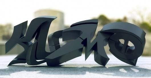 Graf Composite - 3d Graphics - Creattica #typography
