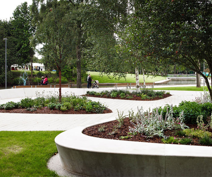 Stevenage Town Centre Gardens by HTA Landscape