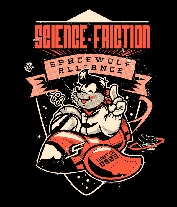 Science Friction Jim Stark Co. #illustration #design #character #shirt
