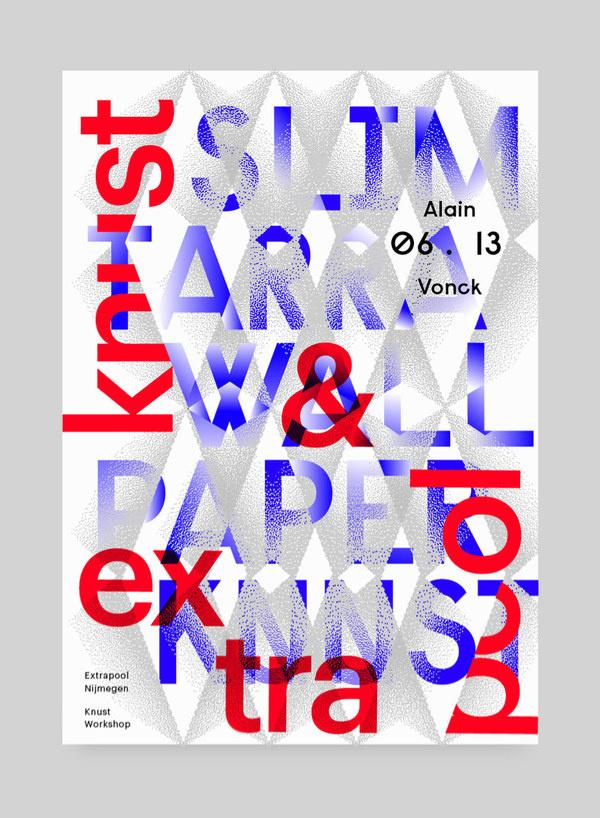 Slimtarra, Alain Vonck #blue #red #poster #typography