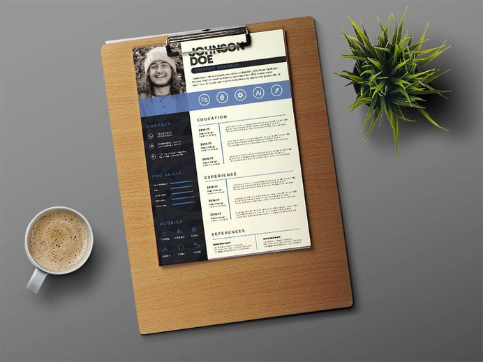 Free Professional CV Template with Three Colors Option