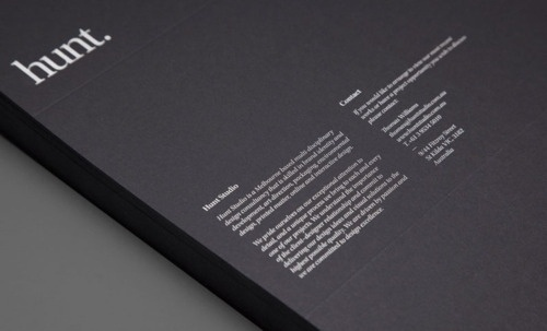 Hunt - The Pool #print #design #identity #stationery