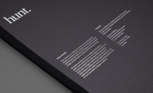 Hunt - The Pool #print #design #identity #stationery
