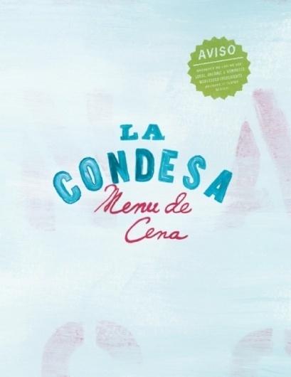 Art of the Menu: La Condesa #print #typography