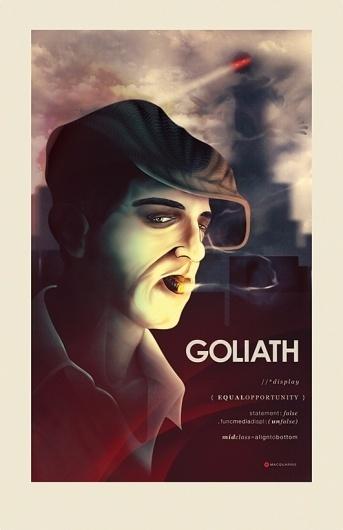 Goliath Poster Design « matmacquarrie.ca #robot #digital #macquarrie #painting #mat #poster #goliath