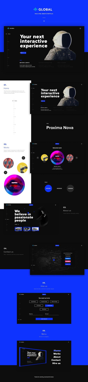 Global Free one Page Portfolio