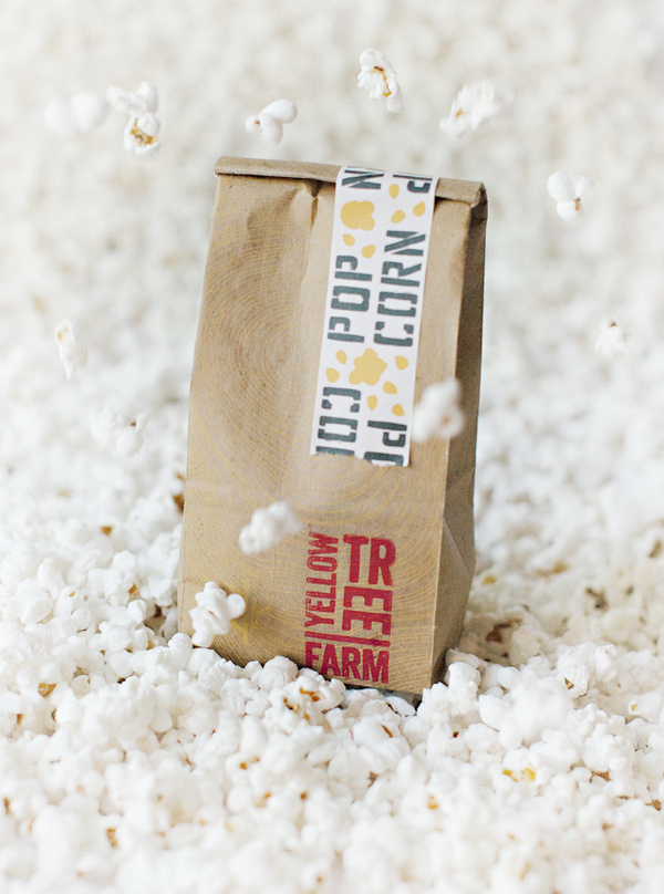 YT Popcorn #popcorn #packaging #handmade #farm #yellowtree #organic
