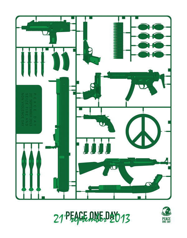 Peace Day #illustration #poster #graphic #gun #war #stencil #peace #army #day #peaceday