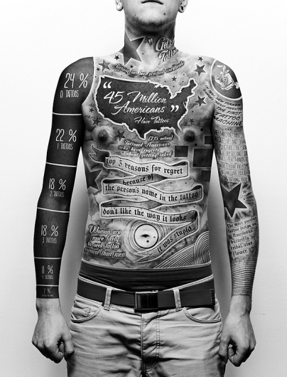 TATTOO - INFOGRAPHICS on the Behance Network #infographic #tattoo #typography