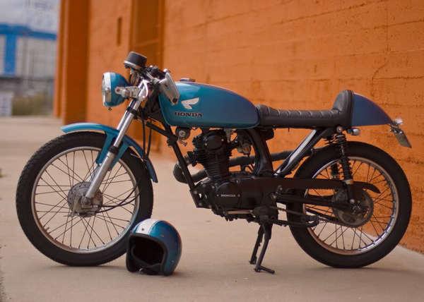 FFJMOORE Big Blue FINISHED!!! 11 20 11 #cb125 #honda #motorcycle