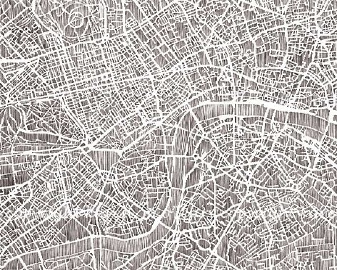 Supermarket - london print, 10x8 from studiokmo #london #print #map #illustration #studiokmo