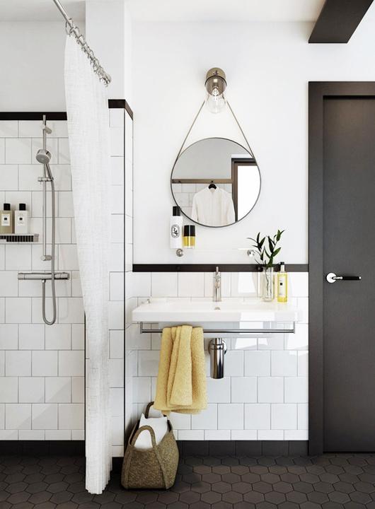 white subway tile bathroom #interior #design #decor #deco #decoration