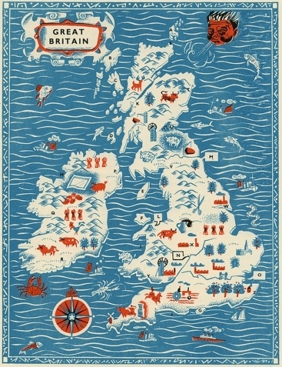 All Things Stylish #britain #illustration #map