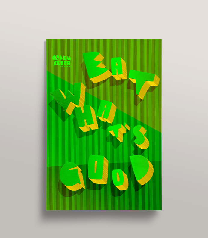 Green Zebra Grocery - Mr Miles Johnson #miles #design #color #advertising #direction #johnson #art #poster #mr #typography
