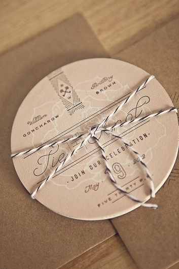 FPO: Goncharow's Coaster Wedding Invites #design #typography #vintage #logo #lettering #coaster #invitation design