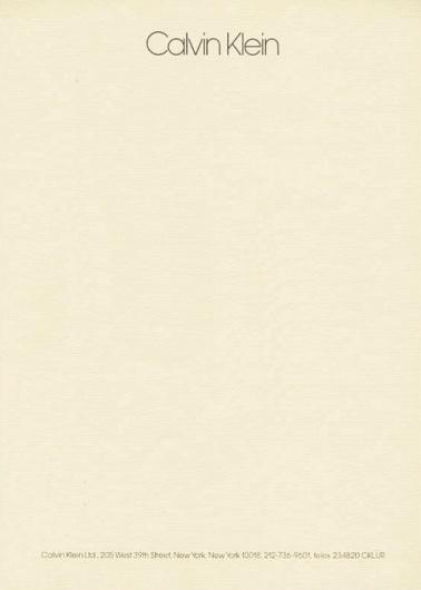 Letterheady #calvin #letterhead #klein #stationery