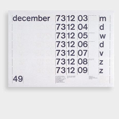onoma design – 1973 calendar #type #layout #design #grid