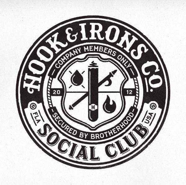 Hook #logo #hookirons #club #social