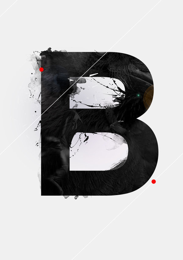 """B"" the alphabet of knarf art by Knarfart #inspiration #alphabet #typography"