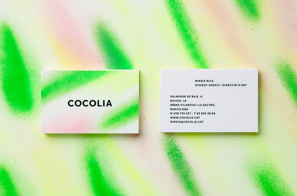 BRAND IDENTITYCOCOLIA2013 #business #card #print #paint #spray